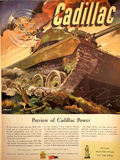 Cadillac Power WWII Magazine Ad Royalty Free Stock Photo