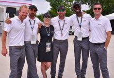 Cadillac Racing besättning i Detroit för 2017 Arkivfoton