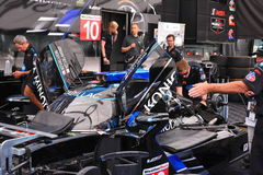 Cadillac Racing segrar i Detroit Royaltyfri Fotografi