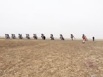 Cadillac ranch Royaltyfri Foto