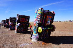Cadillac Ranch Amarillo. Cadillac Ranch in Amarillo is the creation of a group of artists Stock Image