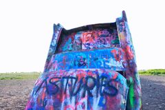 Cadillac Ranch in Amarillo, Texas. Stock Images