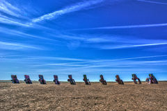 Cadillac ranch. Amarillo, Texas. Public art installation and sculpture. created in 1974 by Chip Lord, Hudson Marquez and Doug Michels royalty free stock photos