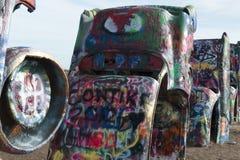 Cadillac Ranch installation in Amarillo, Texas Royalty Free Stock Photo