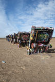 Cadillac Ranch installation in Amarillo, Texas Stock Photo