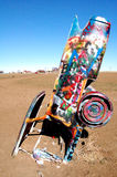 Cadillac Ranch near Amarillo, TX. Buried cars at Cadillac Ranch near Amarillo Texas royalty free stock photos