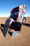 Cadillac Ranch near Amarillo, TX. Buried cars at Cadillac Ranch near Amarillo Texas stock photos