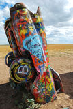 Cadillac Ranch Public Sculpture Royalty Free Stock Photo