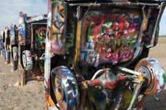 Cadillac-Ranchinstallation in Amarillo, Texas lizenzfreie stockfotos