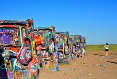 Cadillac rancho w Amarillo, Teksas Zdjęcia Royalty Free