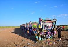 Cadillac rancho w Amarillo, Teksas Fotografia Royalty Free