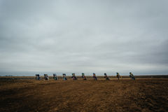 Cadillac rancho wzdłuż Historycznej trasy 66 w Amarillo, Teksas Zdjęcia Stock