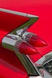 Cadillac-Rückseitenrücklicht/-flosse. Stockfoto