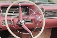 Cadillac rosado Imágenes de archivo libres de regalías