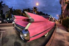 Cadillac rosado Fotografía de archivo libre de regalías