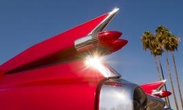 Cadillac rosso Fotografie Stock Libere da Diritti