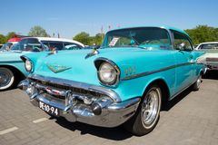 1958 Cadillac Sedan De Ville classic car. DEN BOSCH, THE NETHERLANDS - MAY 8, 2016: Vintage 1958 Cadillac Sedan De Ville classic car Royalty Free Stock Images