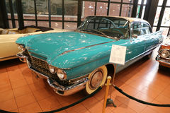 1960 Cadillac Series 62 Hardtop Sedan. ISTANBUL, TURKEY - JULY 29, 2016: 1960 Cadillac Series 62 Hardtop Sedan in Rahmi M. Koc Industrial Museum. Koc museum has Stock Photos