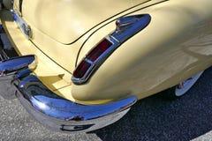Cadillac, American car of the 1940s, Model 62 Coupe Yoga Mat, 1947.Rarity Hamburg, Germany. Cadillac, vanilla yellow. American car of the 1940s.  Model 62 Coupe Royalty Free Stock Photos