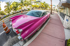 Cadillac Vintage car parked at Stock Photography