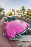 Cadillac Vintage car parked at Royalty Free Stock Image