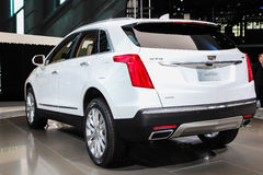 A Cadillac XT5 exhibit at the 2016 New York International Auto S. NEW YORK - March 23: A Cadillac XT5 exhibit at the 2016 New York International Auto Show during Royalty Free Stock Image