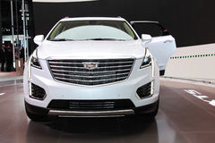 A Cadillac XT5 exhibit at the 2016 New York International Auto S. NEW YORK - March 23: A Cadillac XT5 exhibit at the 2016 New York International Auto Show during Royalty Free Stock Photography