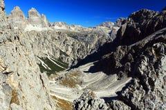 Cadini di Misurina. The Dolomites, Italy Royalty Free Stock Photography