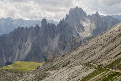 Cadini di Misurina. (2839 m), Dolomites of Ampezzo, Italy Royalty Free Stock Images