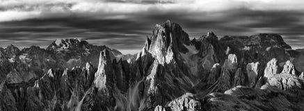 Cadini di Misurina. Mountain group with its  summits Cima Cadin di NE, Cima Cadin di San Lucano, Cima di Croda Liscia. Dolomites, Italy Stock Images