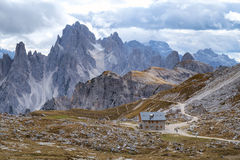 Cadini di Misurina range in Dolomites, Italy Royalty Free Stock Photos
