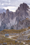 Cadini di Misurina range in Dolomites, Italy Royalty Free Stock Images