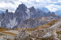 Cadini di Misurina range in Dolomites, Italy. Cadini di Misurina range in National Park Tre Cime di Lavaredo. Dolomites, South Tyrol. Italy, Europe Royalty Free Stock Images