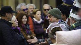 Cadix, Andalousie, Espagne ; Le 12 février 2018 : Célébration de carnaval de Cadix Photographie stock libre de droits