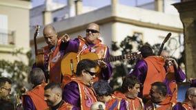 Cadix, Andalousie, Espagne ; Le 12 février 2018 : Célébration de carnaval de Cadix Photo libre de droits