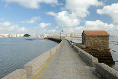 Cadiz. City, Medieval town of Mediterranean, Andalusia, Spain Royalty Free Stock Images