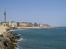 Cadiz. Seaside view of cadiz, spain Royalty Free Stock Photos