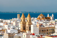 Cadiz. Aerial view of the city. View of the historic center of Cadiz from the observation deck Stock Image