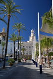 Cadiz, Andalusia, Hiszpania Główny miasto kwadrat, urząd miasta i Fotografia Royalty Free