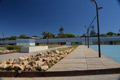 Cadiz, Andalusia, Spain. Contemporary architecture - pedestrian promenade Royalty Free Stock Photos