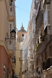 Cadiz, Andalusia, Spain. Traditional city centre alley Royalty Free Stock Photos
