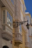 Cadiz, Andalusia, Spain. Traditional house windows Royalty Free Stock Photos