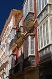 Cadiz, Andalusia, Spain. Traditional house windows Stock Photo