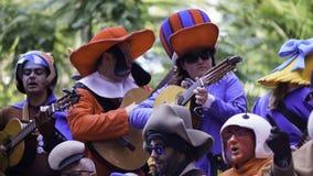 Cadiz, a Andaluzia, Espanha; 12 de fevereiro de 2018: Celebração do carnaval de Cadiz Foto de Stock Royalty Free