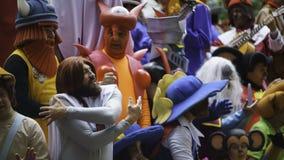 Cadiz, a Andaluzia, Espanha; 12 de fevereiro de 2018: Celebração do carnaval de Cadiz Imagens de Stock Royalty Free