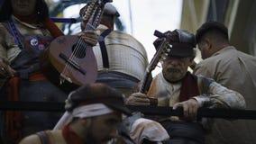 Cadiz, a Andaluzia, Espanha; 12 de fevereiro de 2018: Celebração do carnaval de Cadiz Imagem de Stock Royalty Free