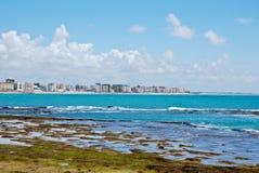 Cadiz Beach. View of the ocean and shore in Cadiz, Spain Royalty Free Stock Photos