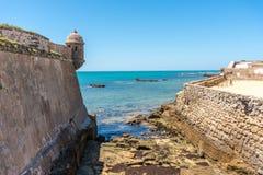 On the Cadiz beach stock photography