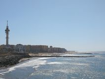 Cadiz. Beach from distance Stock Photo