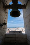 Cadiz Cathedral bell tower. stock images